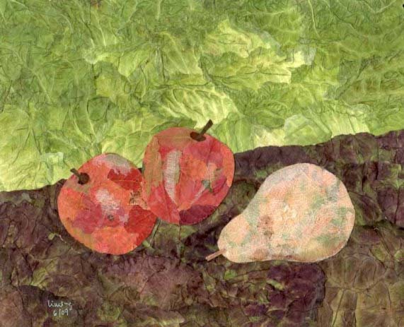Still Life with Pear and Apple