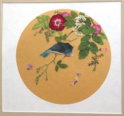 Application of Chinese Flowers and Birds Painting Method on Pressed Flower Art