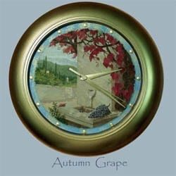 Autumn Grape Wall Clock